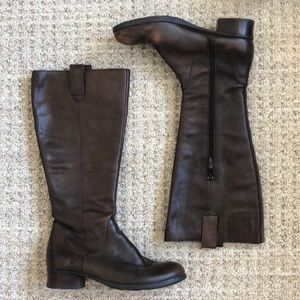 Born Leather Riding Boots size 9, brown